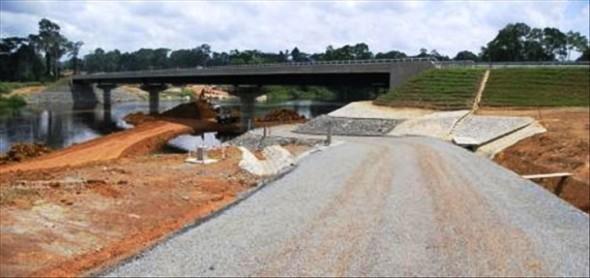 Route port gentil ombou les travaux du pont du fernan vaz avancent ambassade du gabon - Consulat de france port gentil ...
